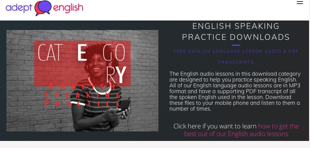Websites for Learning English - Centre for Language in