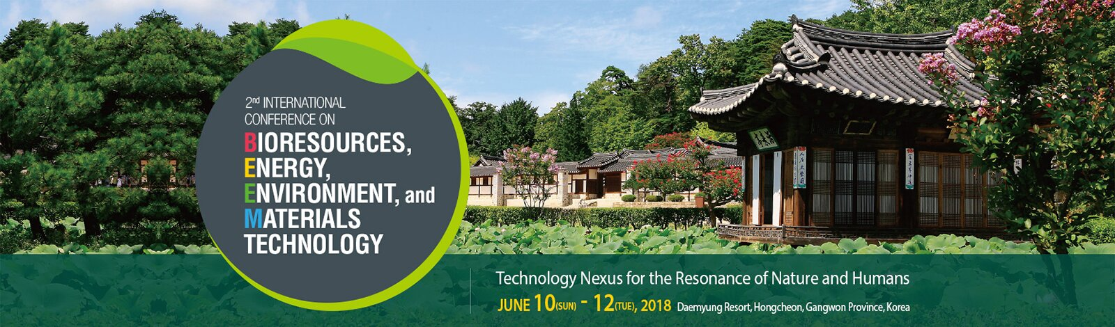 2nd International Conference on Bioresources, Energy, Environment, and Materials Technology