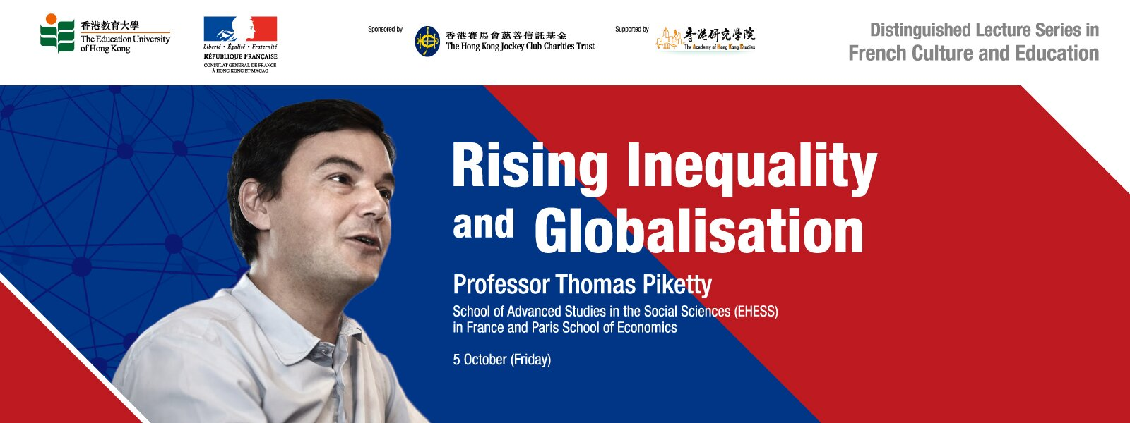 "Distinguished Lecture on ""Rising Inequality and Globalisation"""