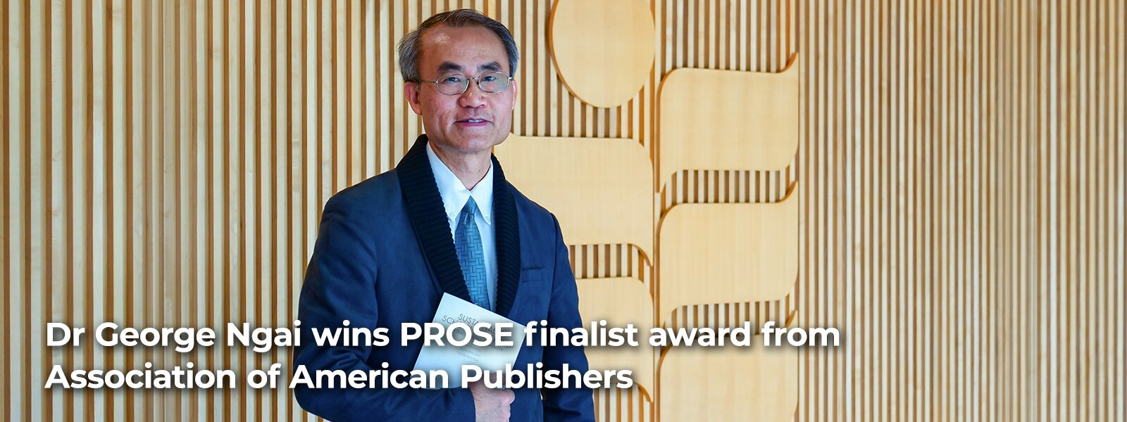Dr George Ngai wins PROSE finalist award from Association of American Publishers
