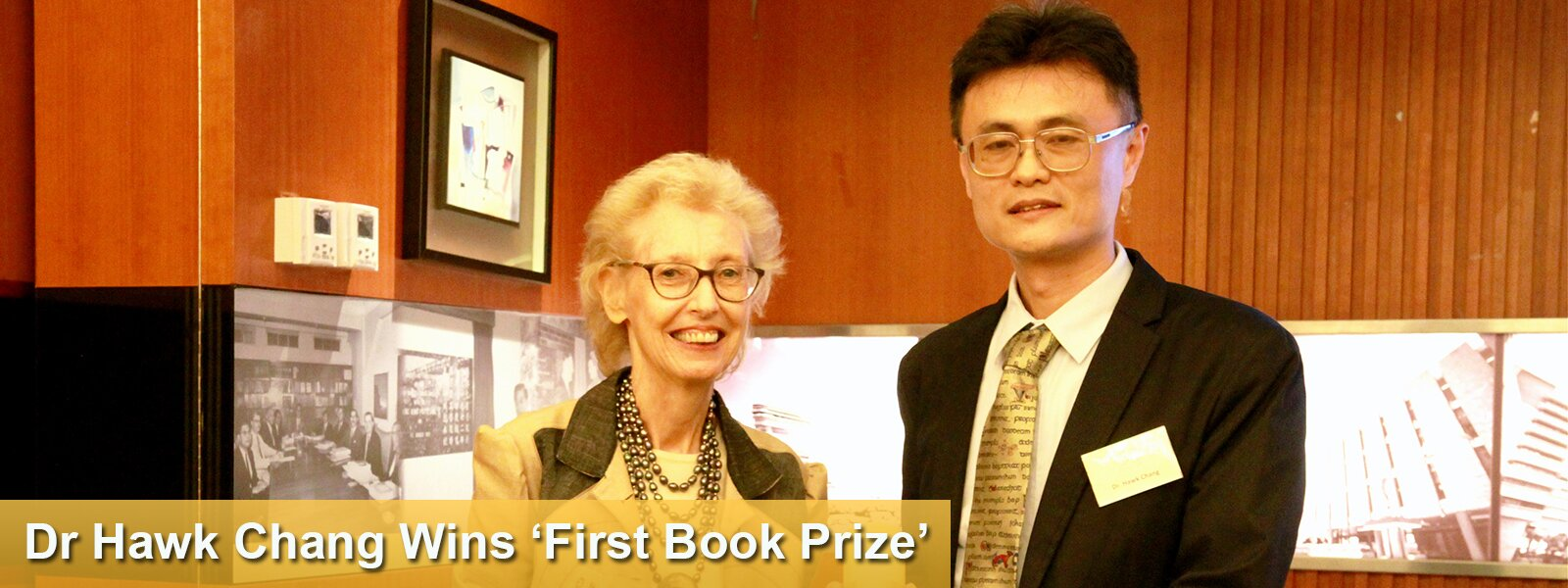 Dr Hawk Chang Wins 'First Book Prize'