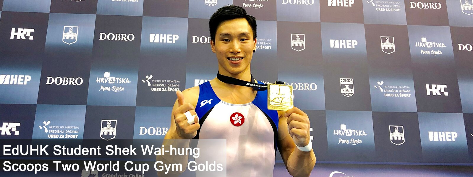 EdUHK Student Shek Wai-hung Scoops Two World Cup Gym Golds