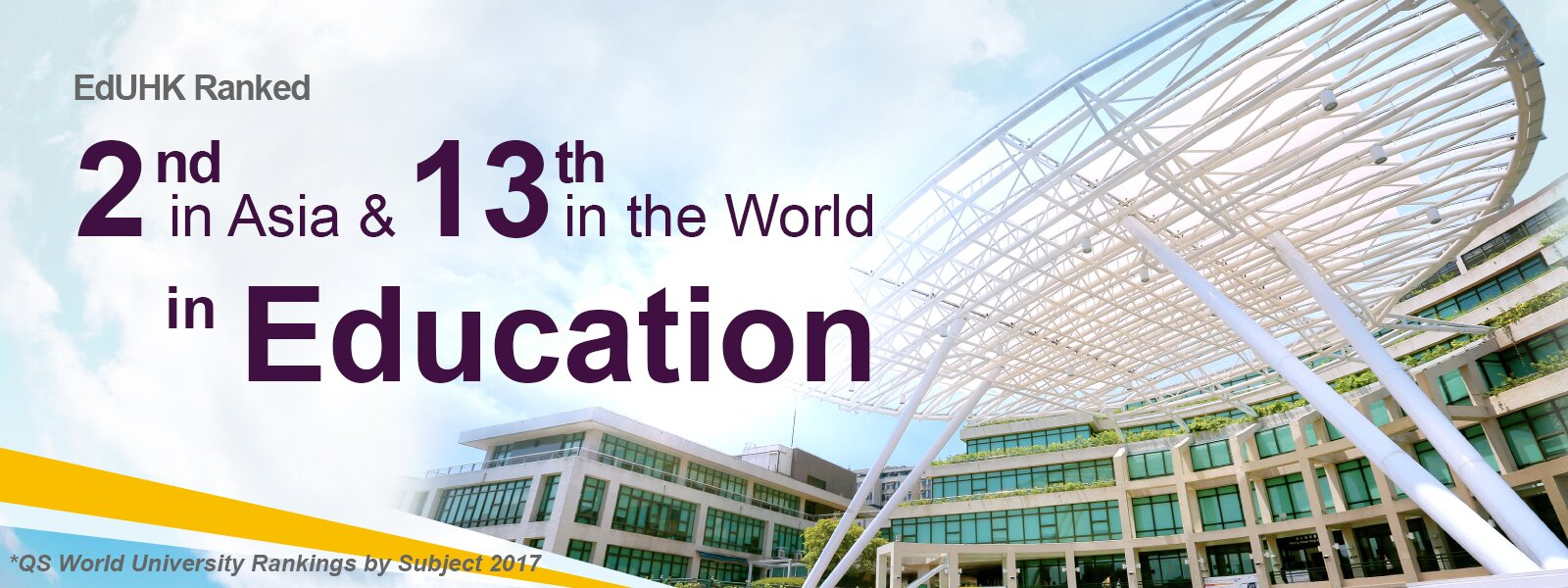 EdUHK Ranked 2nd in Asia & 13th in the World in Education