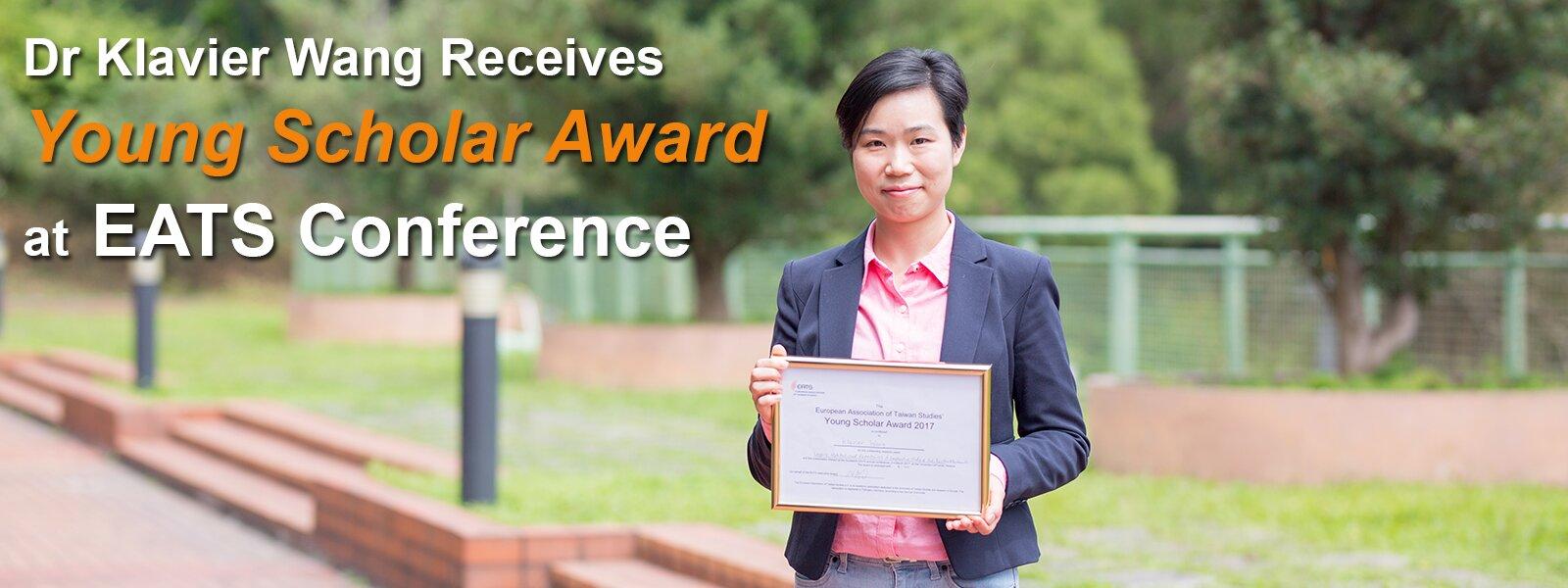 Dr Klavier Wang Receives Young Scholar Award at EATS Conference