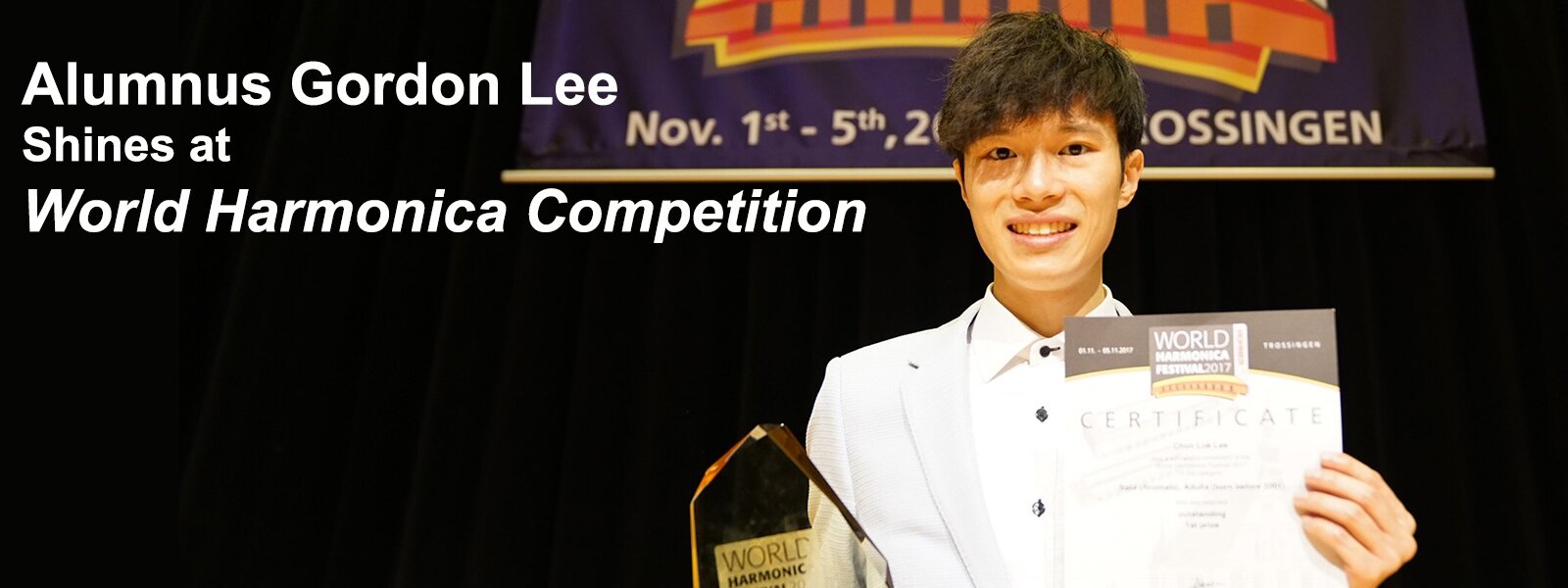Alumnus Gordon Lee Shines at World Harmonica Competition