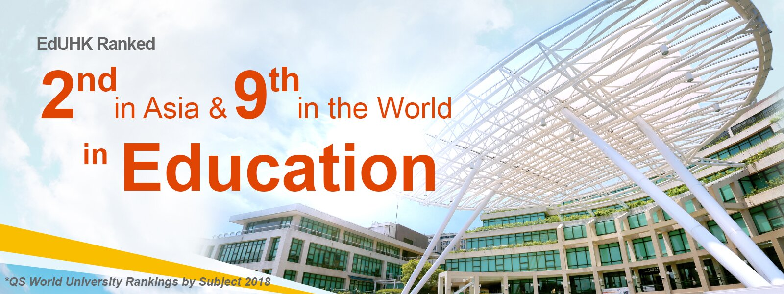 EdUHK Ranked 2nd in Asia and 9th in the World in Education