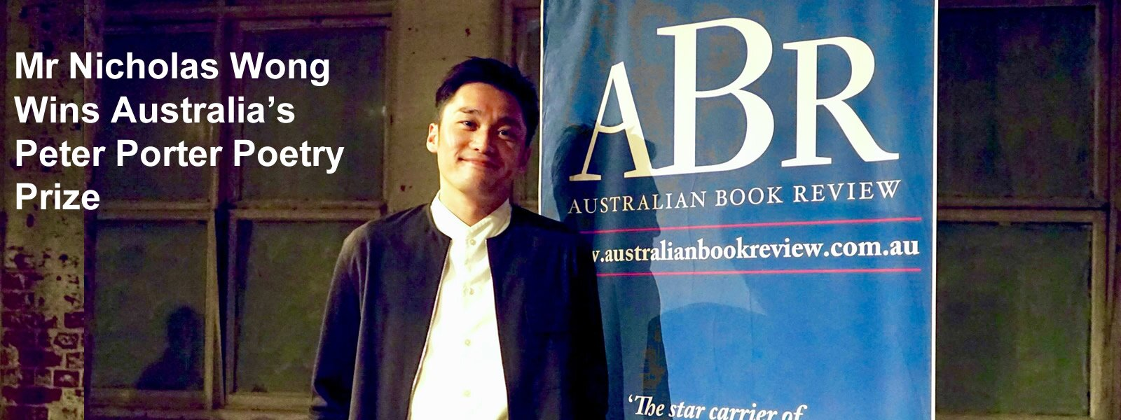 Mr Nicholas Wong Wins Australia's Peter Porter Poetry Prize
