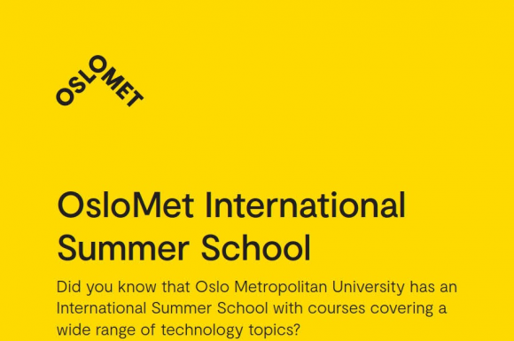 Application of OsloMet International Summer School