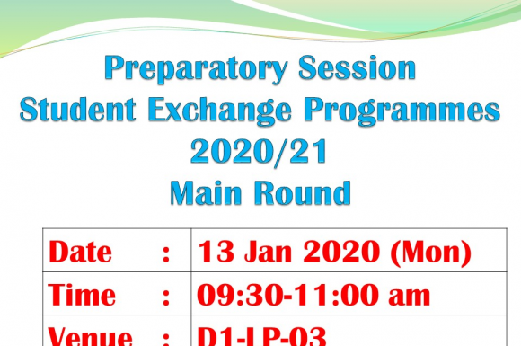 Preparatory Session of Student Exchange Programmes 2020/21 (Main Round Recruitment)
