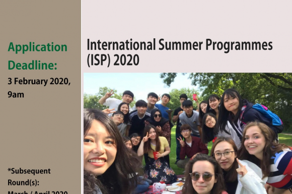 Application of International Summer Programmes (ISP) 2020