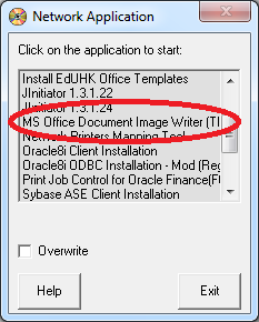 microsoft office document image writer driver: