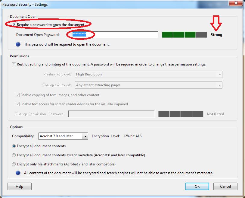 FAQ: How to apply open password on PDF file? | OCIO