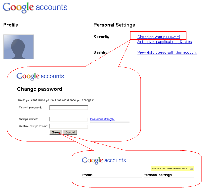 How do i change my google gmail password