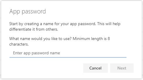 FAQ: Create an app password for Office 365 MFA   OCIO