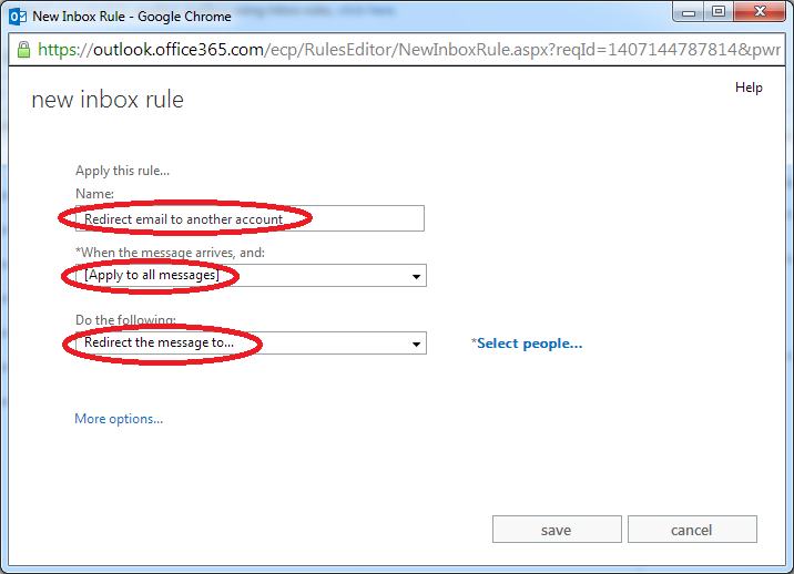 FAQ: How to redirect email to another account on Office 365