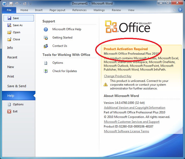 microsoft office 2010 activation patch