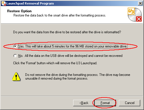 FAQ: How to remove the U3 Launchpad software from the
