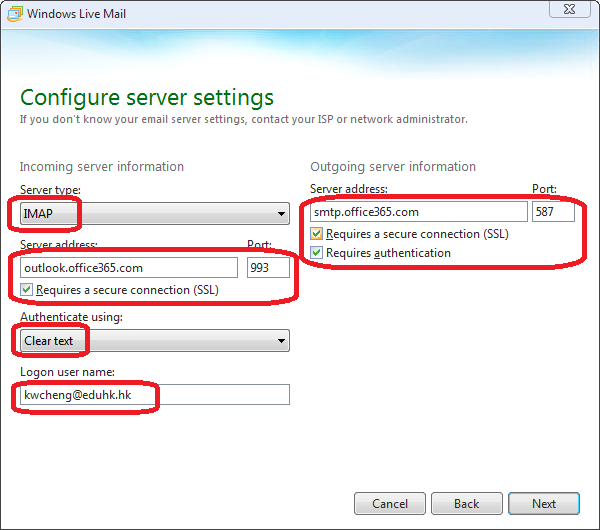 Using Windows Live Mail | OCIO