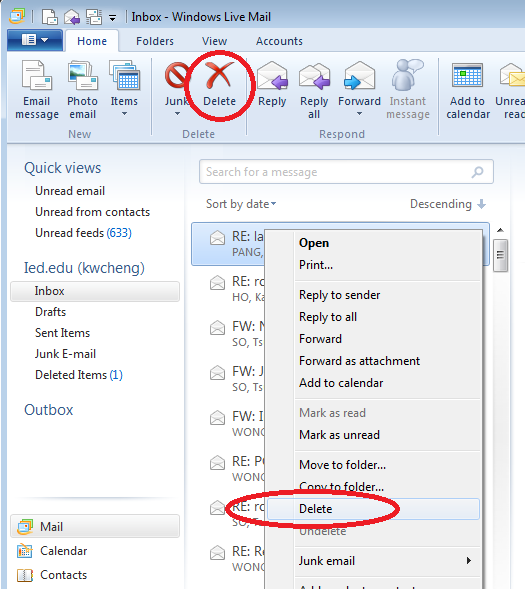 how to get windows live mail to access emails